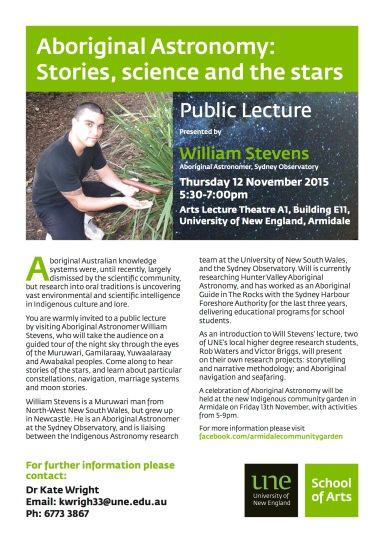 Final Will Stevens Lecture Poster