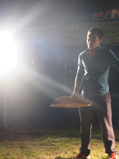 Will Stevens presenting on the stars at the Armidale Aboriginal Community Garden